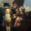 Children with a Cart by Francisco de Goya