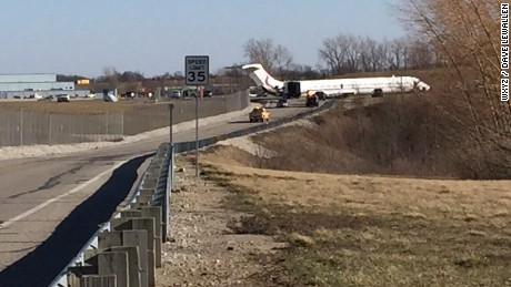 A charter MD83 slid off Runway 23L upon departure from Willow Run Airport at 2:55 Eastern Time this afternoon. The intended destination of the aircraft was Dulles International Airport, Washington DC. The FAA is investigating.