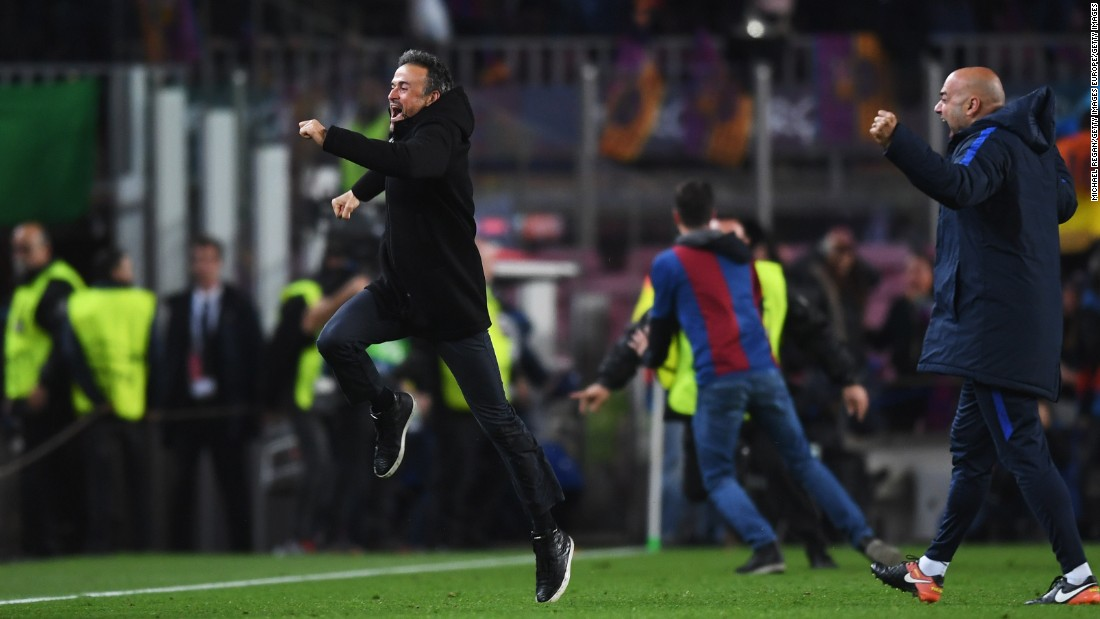 From 4-0 down to 6-5 up, Enrique -- who is leaving Barca at the end of this season -- had overseen perhaps the greatest Champions League knockout stage comeback of all time.