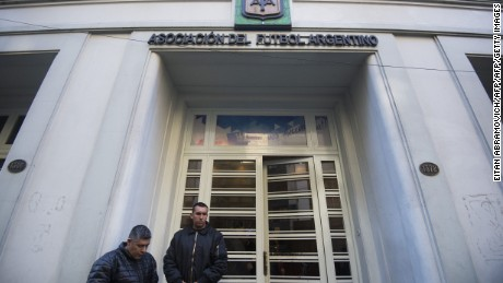 View of the facade of the Argentine Football Association (AFA) headquarters in Buenos Aires, on July 06, 2016.  Argentine football is in crisis after the national coach followed star striker Lionel Messi in quitting weeks before the Olympics, legend Diego Maradona is eyeing a return to a role with the squad. / AFP / EITAN ABRAMOVICH        (Photo credit should read EITAN ABRAMOVICH/AFP/Getty Images)