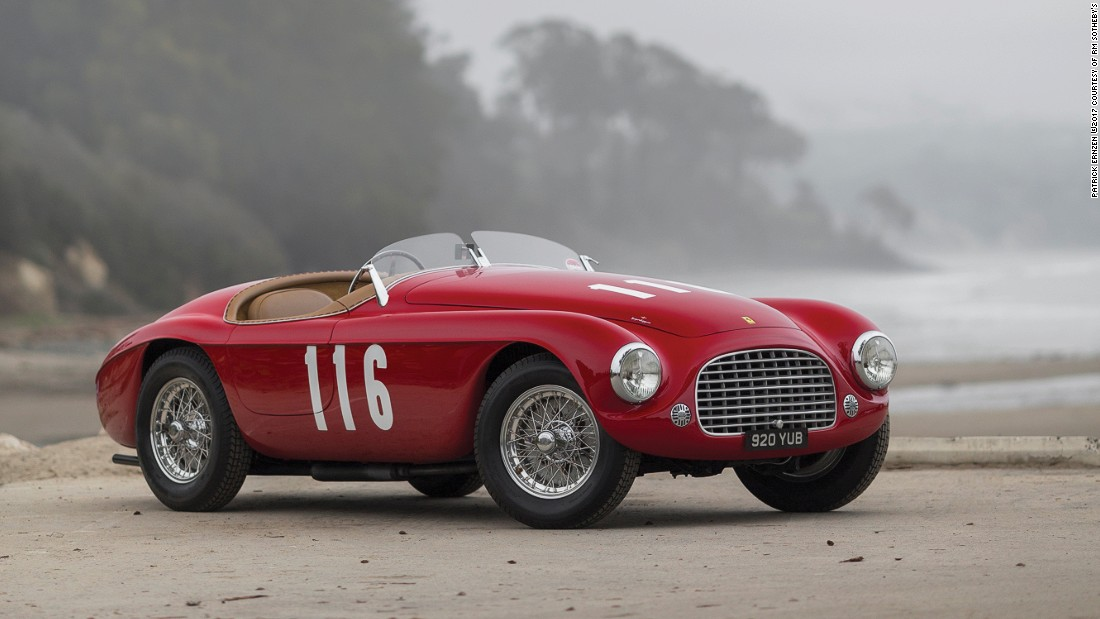 The 1950 Ferrari 166 MM Barchetta by Touring has an estimated price of$8 million to $10 million.