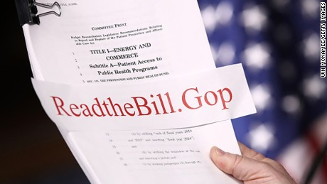 WASHINGTON, DC - MARCH 07: House Energy and Commerce Chairman Greg Walden (R-OR) holds a copy of the newly written American Health Care Act during a press conference at the U.S. Capitol March 7, 2017 in Washington, DC. House Republicans yesterday released details on their plan to replace the Affordable Care Act, or Obamacare, with a more conservative agenda that includes individual tax credits and grants for states replacing federal insurance subsidies.