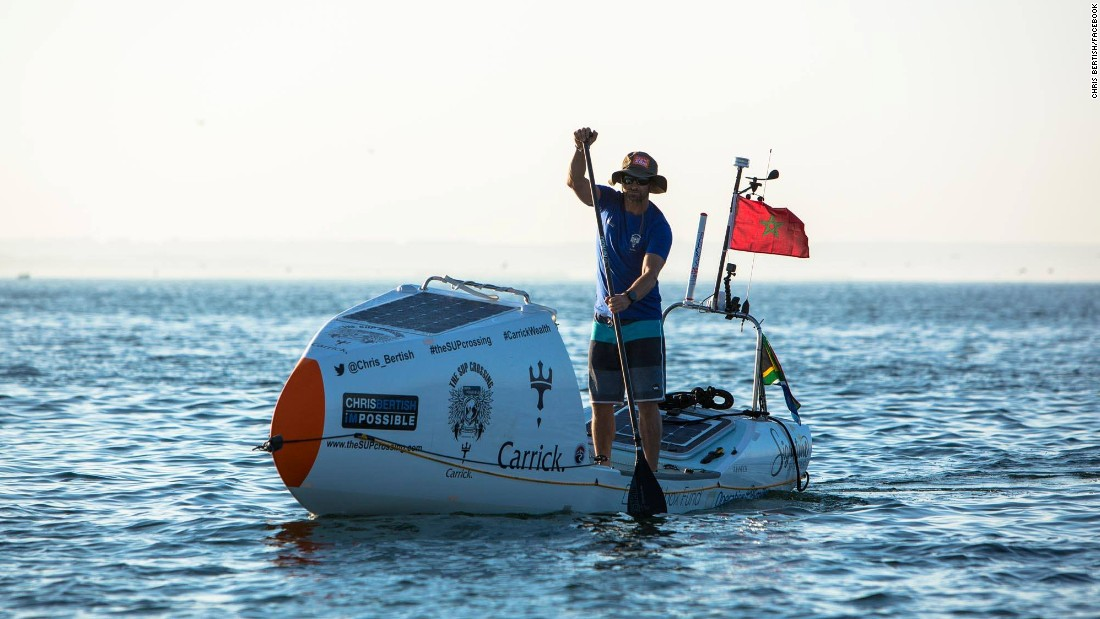 Bertish's 93-day crossing solo, unaided and unassisted is a world-first and another record for the pro.
