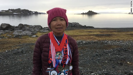 Despite her marathon training, Chau Smith still works 10-hour days.