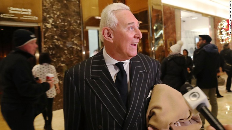 Source: Roger Stone told Trump to fire Comey