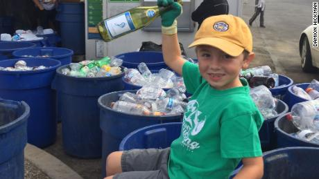 Ryan Hickman, now 7, began his recycling business at age 3½.