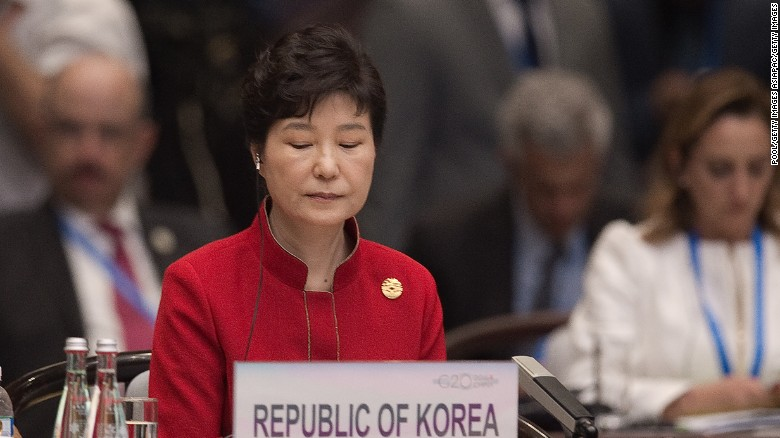 South Korea's President Park Geun-Hye in September 4, 2016.