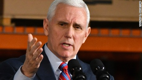 Vice President Mike Pence speaks at the Trans Parts and Distribution Center, Saturday, March 11, 2017, in Louisville, Ky. Pence said Obamacare failed the nation and the Trump administration needs the backing of rank-and-file Republicans to pass their health care overhaul.