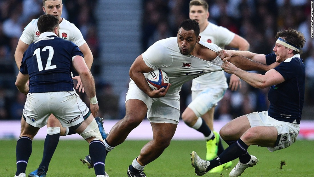 England ran in seven tries, with Billy Vunipola scoring the fifth.