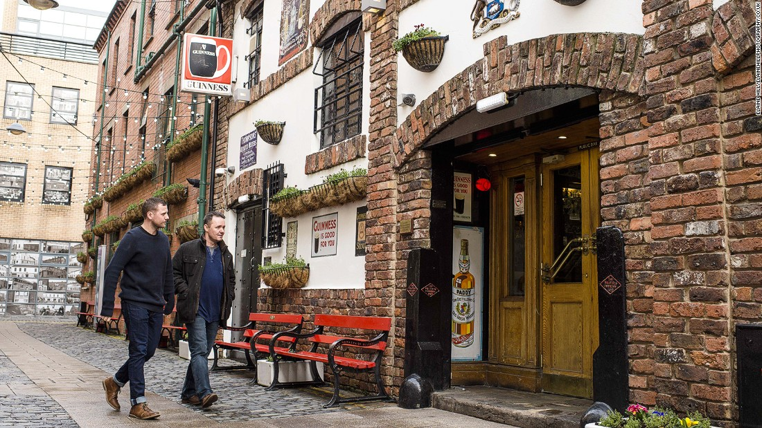 "<strong>Duke of York: </strong>Aside from one detour out of the city, every stop on the CNN pub crawl in Belfast is within five minutes' walk. The Duke of York is an ""out-and-out classic Irish pub,"" says McGarry."