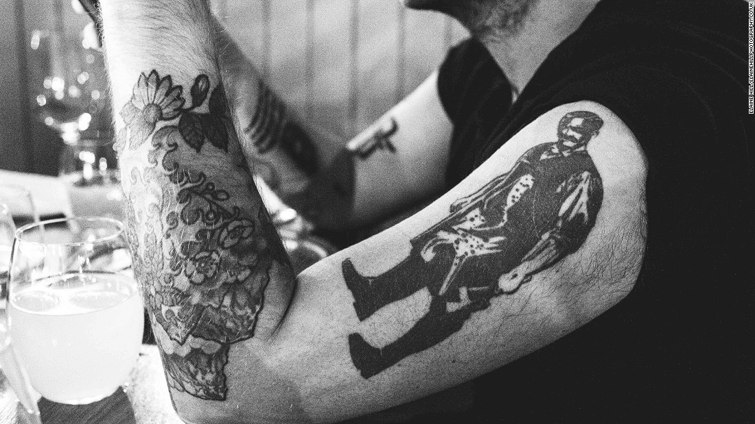 <strong>Dead Rabbit for life:</strong> Jack McGarry wears his commitment to Dead Rabbit on his sleeve, with his left and right arms both dedicated to the bar's iconography.