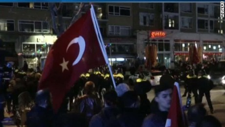 Protests after Netherlands bars Turkish FM