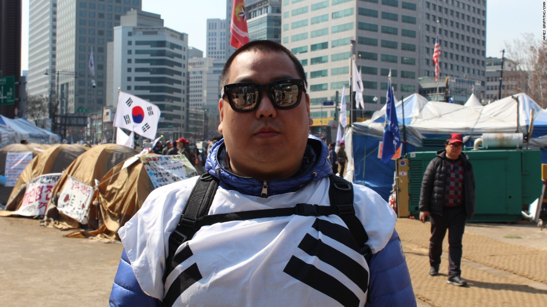 """There was no reason for this impeachment,"" said Jason Choi, 36. He added that he was worried the next South Korean government would be soft on North Korea and may reverse the decision to deploy a US missile defense system in the country."