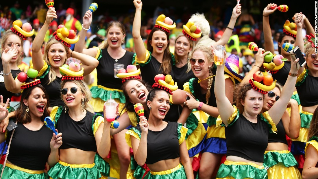 Fans enjoy the atmosphere at the Sydney Sevens in February.