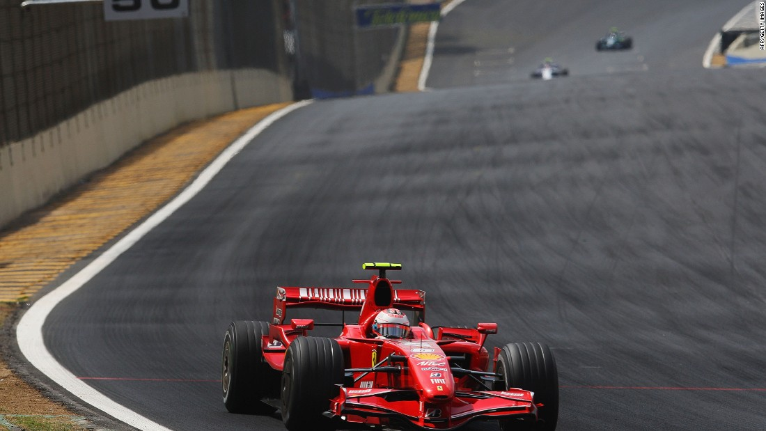 With what appears to be a more competitive Ferrari this season, Raikkonen will be hoping that he can repeat the form displayed in 2007 (pictured) when he won his only world title.