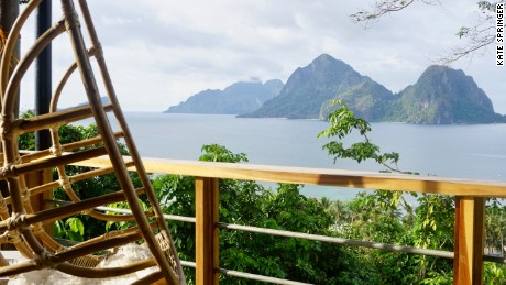 "The Bird House's ""Mother Nest"" overlooks Bacuit Bay, in El Nido."