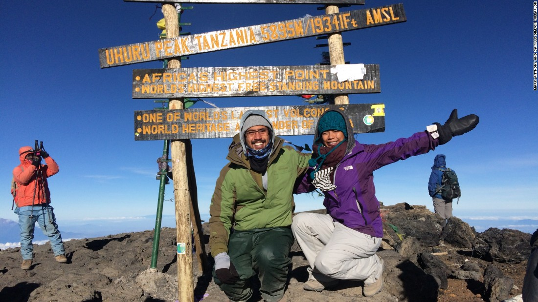 <strong>Uhuru Peak: </strong>One of the most memorable moments of the honeymoon was reaching Uhuru Peak -- the highest point of Mount Kilimanjaro at an altitude of 19,341 feet.