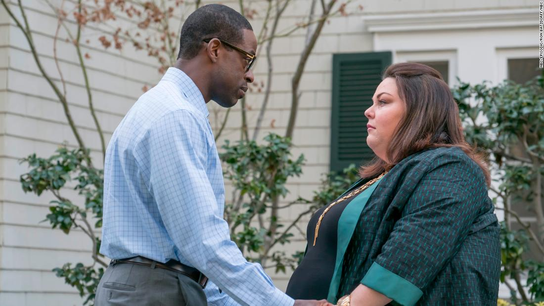 Sterling K. Brown, Chrissy Metz in 'This Is Us.' Both actors received Emmy nominations for their individual performances. The NBC tearjerker earned 11 total nominations, including one for outstanding drama.