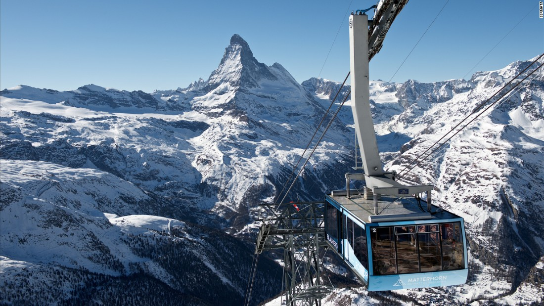 <strong>Matterhorn Ski Paradise, Switzerland: </strong>Draped over the slopes below the majestic Matterhorn are the linked ski areas of Zermatt in Switzerland and Cervinia/Valtournenche in Italy's Aosta Valley, which make for a vast mountain playground surrounded by some of the Alps' highest peaks.