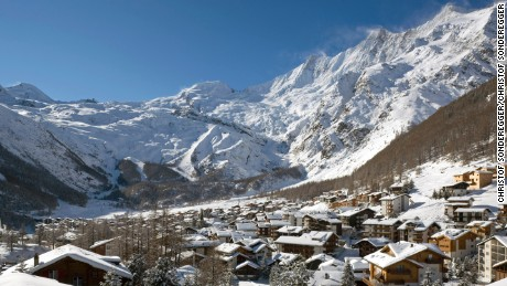 Traditional Saas Fee is ringed by towering 4,000-meter peaks.