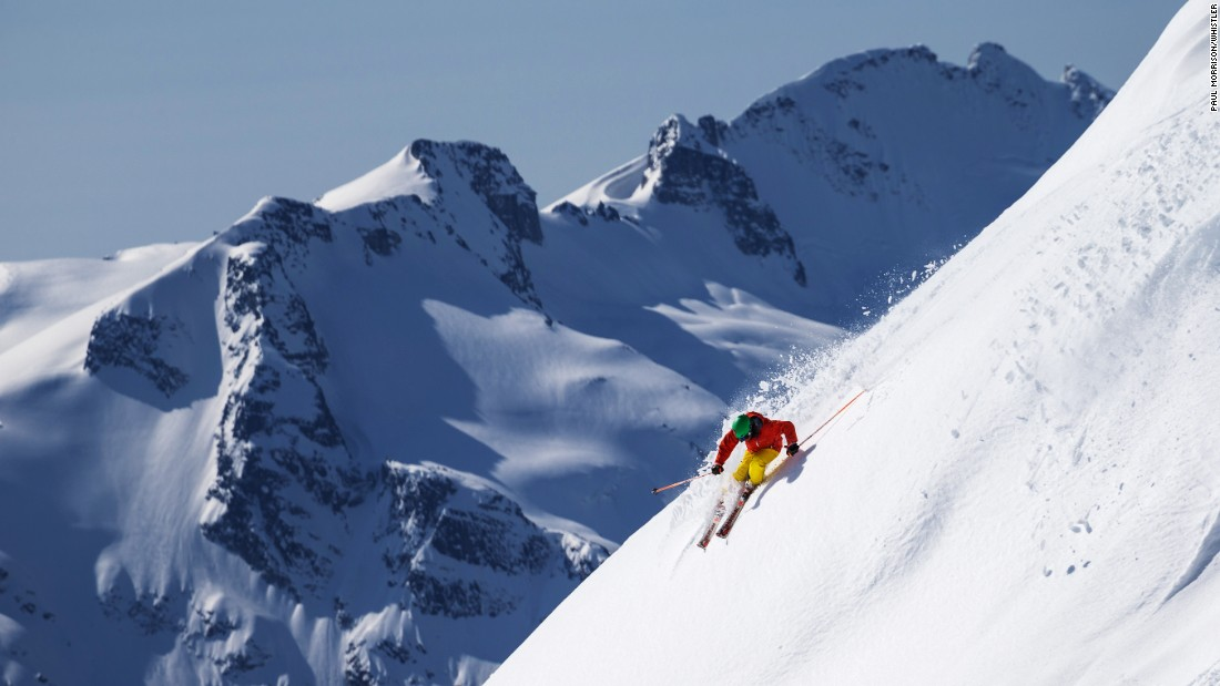 <strong>Whistler Blackcomb, British Columbia, Canada:</strong> The biggest ski area in North America and Canada by area, Whistler-Blackcomb north of Vancouver in British Columbia has grown to be one of the world's most visited resorts.