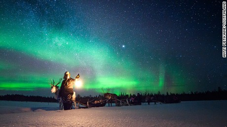 best northern lights Muonio Finland