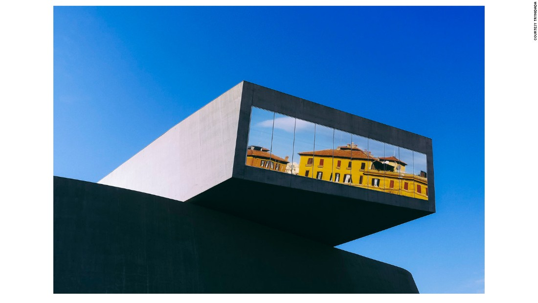 "The Minimalist Architecture Mission has announced the winners for its 2017 photography prize. The winners were selected by photographer Matthias Heiderich. <br /><br />This image of the the MAXXI Museum in Rome was photographed by Trynidada, and awarded second place. ""Clearly the reflection and the colors make this a great architectural photograph,"" says Heidreich."