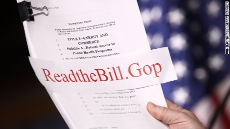 WASHINGTON, DC - MARCH 07: House Energy and Commerce Chairman Greg Walden (R-OR) holds a copy of the newly written American Health Care Act during a press conference at the U.S. Capitol March 7, 2017 in Washington, DC. House Republicans yesterday released details on their plan to replace the Affordable Care Act, or Obamacare, with a more conservative agenda that includes individual tax credits and grants for states replacing federal insurance subsidies.  (Photo by Win McNamee/Getty Images)