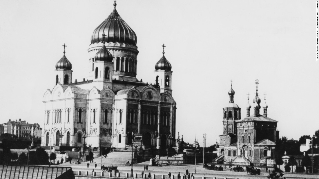 The Cathedral of Christ the Savior in Moscow in 1925