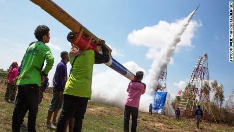 Blast off: Thailand's rocket festival.