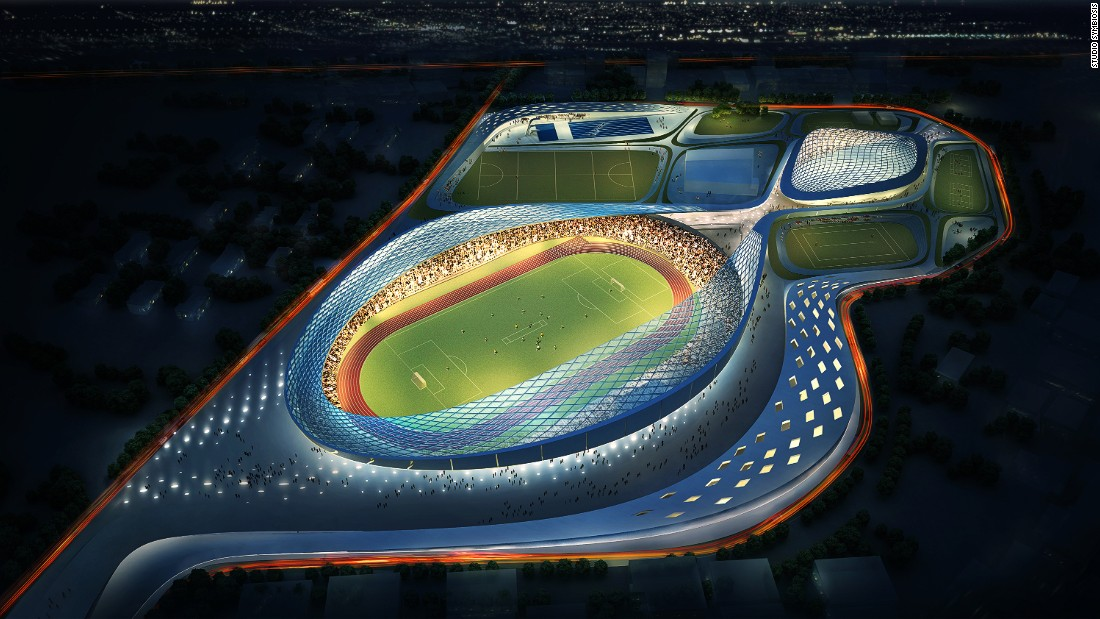 The first design released by Studio Symbiosis is the Athletic Ripples sports complex.
