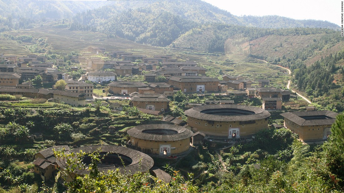 "Most tulou buildings are circular or square shaped, but ""there are other special shapes, such as oblongs -- it just depends on the landscape,"" according to architecture student Lin Weicheng, who has worked on tulou restoration.<br />"