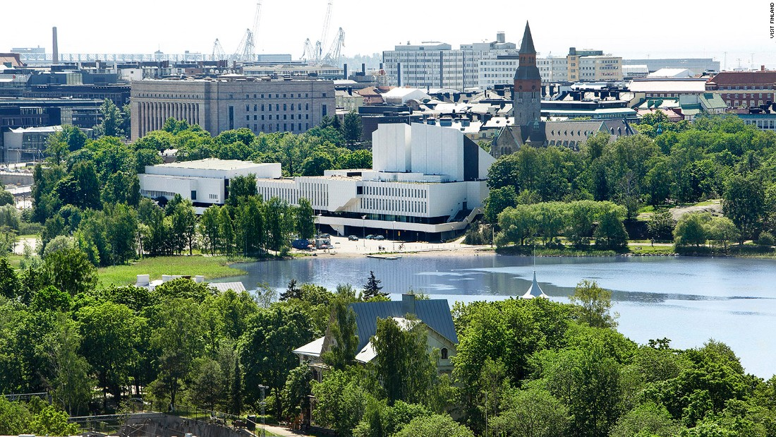 <strong>Absorb the architecture: </strong>Finlandia Hall (the white structure by the lake) is one of the best known works by Alvar Aalto, the nation's most celebrated architect and designer.