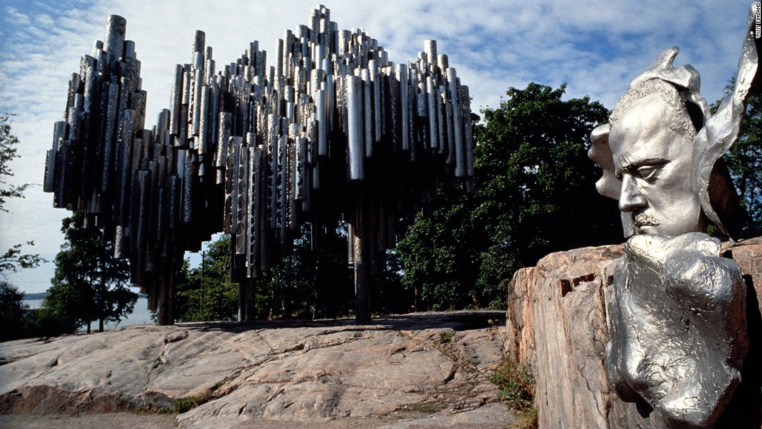 <strong>See the Sibelius Monument: </strong>This welded steel sculpture resembling an enormous pipe organ is a monument to celebrate Finland's most renowned composer, Jean Sibelius. A bust of Sibelius stands next to the sculpture.