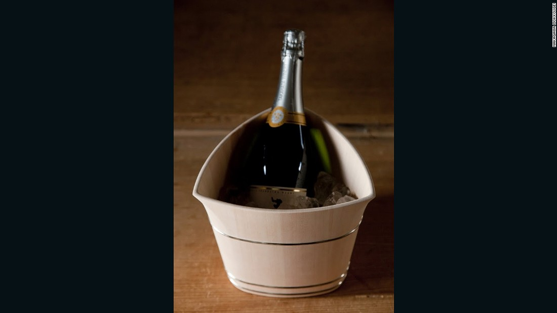 He has also designed and built wooden champagne buckets, including for French house Dom Perignon.