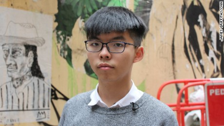 Joshua Wong has become one of Hong Kong's best known pro-democracy activists.