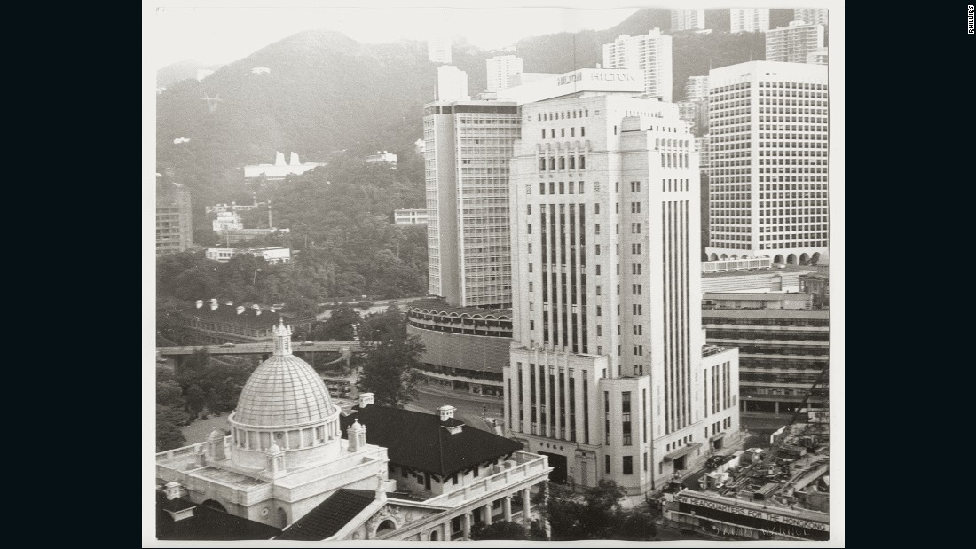 Hong Kong's former Supreme Court and the Bank of China buildings feature in the photo.