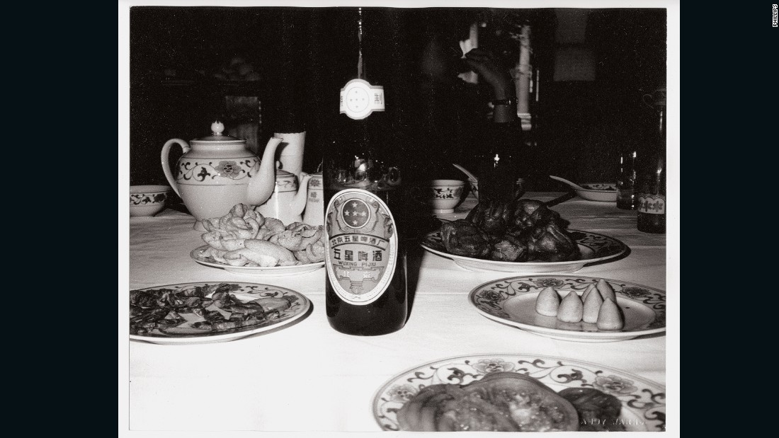 "Warhol liked to feature everyday items in his works, leading Phillips auction house to brand this photo an ""almost Chinese take on some signature Warhol images."""