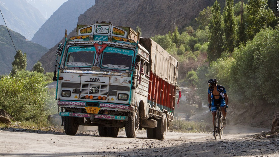 "Seen passing a truck during his 2014 ride in the Himalayas, Zurl also claimed the Guinness Book of World Record in 2012 for the most vertical meters cycled in 48 hours with 28,789 meters of climbing in Austria. That record is now held by <a href=""http://www.guinnessworldrecords.com/world-records/cycling-most-vertical-metres-in-48-hours"" target=""_blank"">Craig Cannon of the US.</a>"