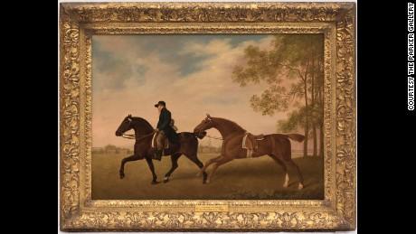 """Two Hacks"" (1789) by George Stubbs"