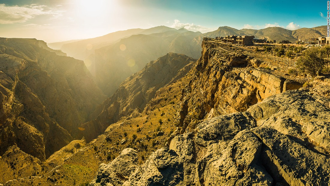 <strong>The Green Mountain: </strong>Alila Jabal Akhdar is surrounded by rocky desert terrains as well as lush terraced farms on Jebel Akhdar, or The Green Mountain as it's known in English. It's the highest point in Oman.