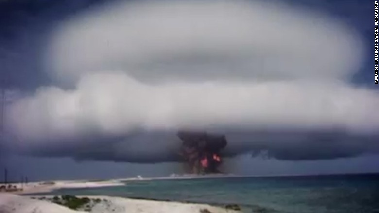 Terrifying nuclear test films released