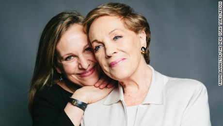 "PHOTO MOVED IN ADVANCE AND NOT FOR USE - ONLINE OR IN PRINT - BEFORE MARCH 12, 2017 -- Julie Andrews and her daughter Emma Walton Hamilton in New York, Feb. 10, 2017. The 81-year-old Oscar, Emmy and Grammy winner stars in a new Netfilx series for children, ""Julie's Greenroom,"" with a cast of muppets. Andrews helped create, write and produce the show with her daughter and Emmy-winning writer Judy Rothman Rofe. (Tawni Bannister/The New York Times)"