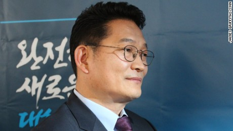 Democratic United Party lawmaker Song Young-gil in his office in Seoul, South Korea on March 13, 2017.