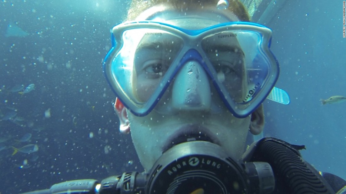 <strong>Finding Nemo: </strong>OK, no one looks great with a scuba regulator shoved in their mouth, but that's no reason not to be proud of this underwater moment.