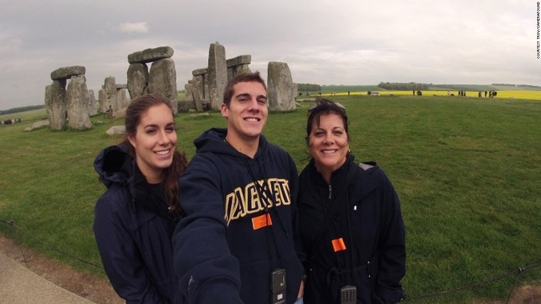 <strong>Stonehenge selfie: </strong>No one knows exactly why this English monument was built. The bigger mystery? The identity of this selfie-stick wielding trio.