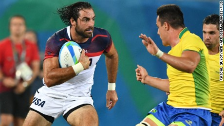 Ebner in action for the US against Brazil at the Rio 2016 Olympics.