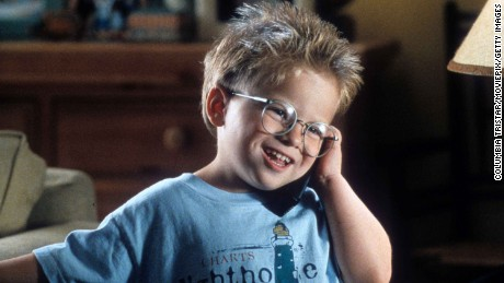 Jonathan Lipnicki talks on a phone in a scene from the film 'Jerry Maguire', 1996. (Photo by TriStar/Getty Images)