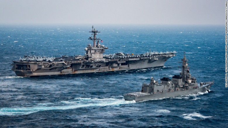 US strike group headed toward Korean Peninsula