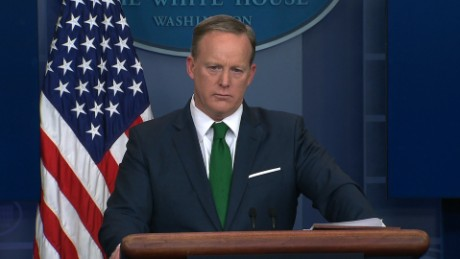 "White House Press Secretary Sean Spicer on Thursday tells reporters the President stands by his claims the Obama administration ""wiretapped"" Trump Tower during the 2016 campaign."